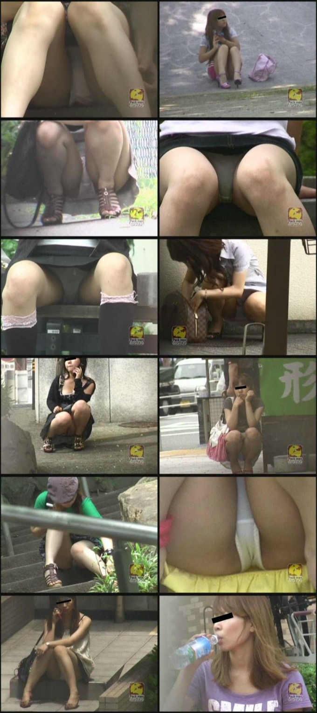盗撮!!すわり&しゃがみパンチラ(2)