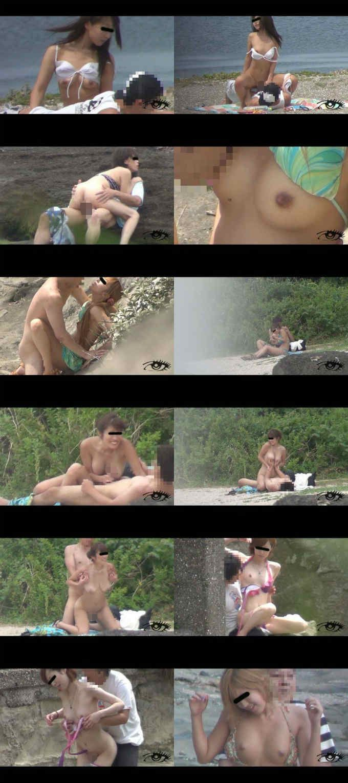 Peeping Beach 青姦 No.1 「海辺で喘ぐ女獣たち」