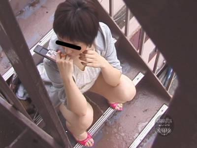 隠撮 階段ごまかし野ション 壱