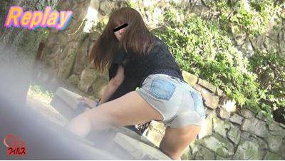 トイレ限界我慢女かっさらい 放置観察おもらし