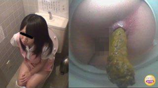 社内隠撮 OL大便記録3  新入社員入り 給湯室横トイレで気まずい排泄