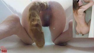 素人娘 お風呂でウンコを撮りました!